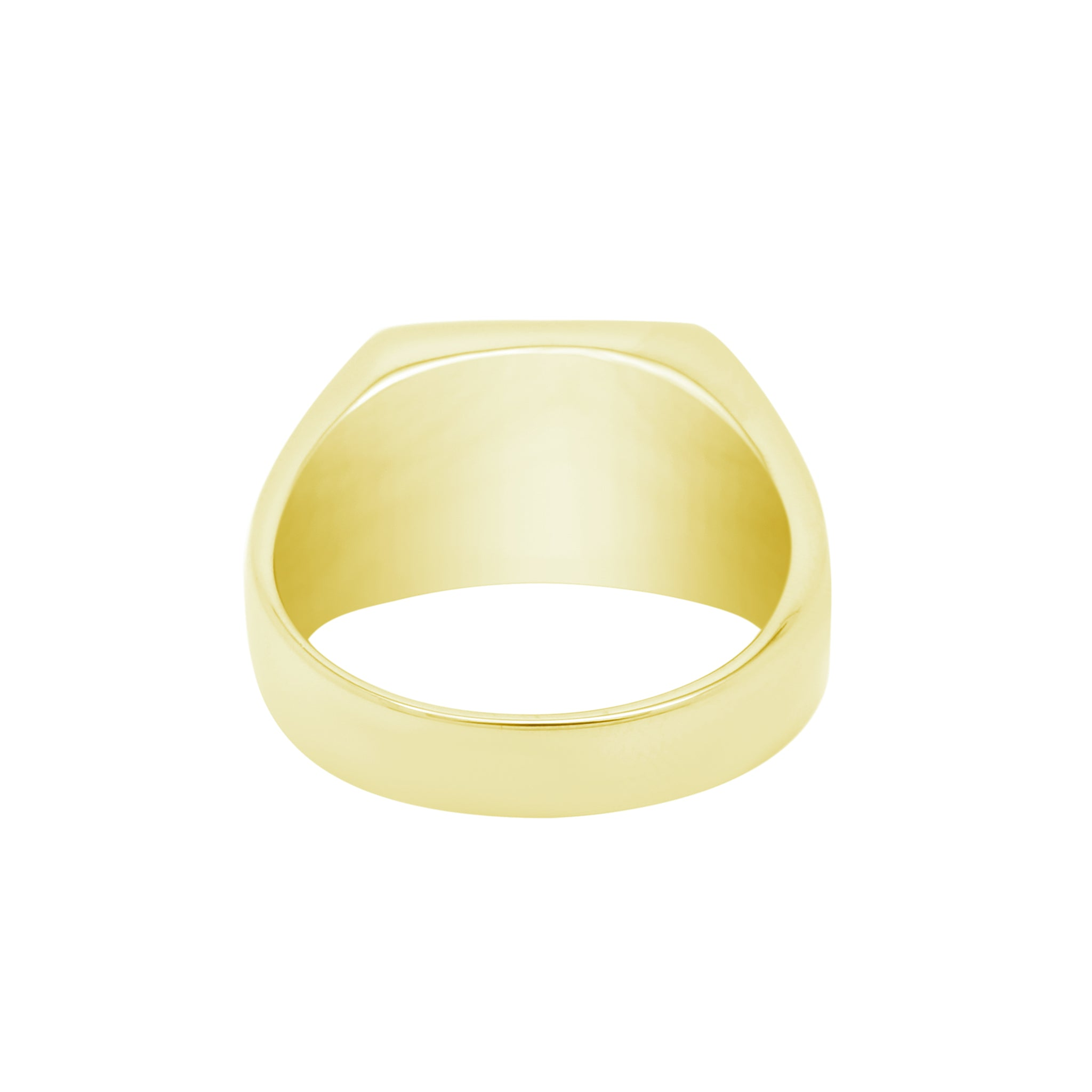 STAINLESS STEEL SIGNET RING - GOLD