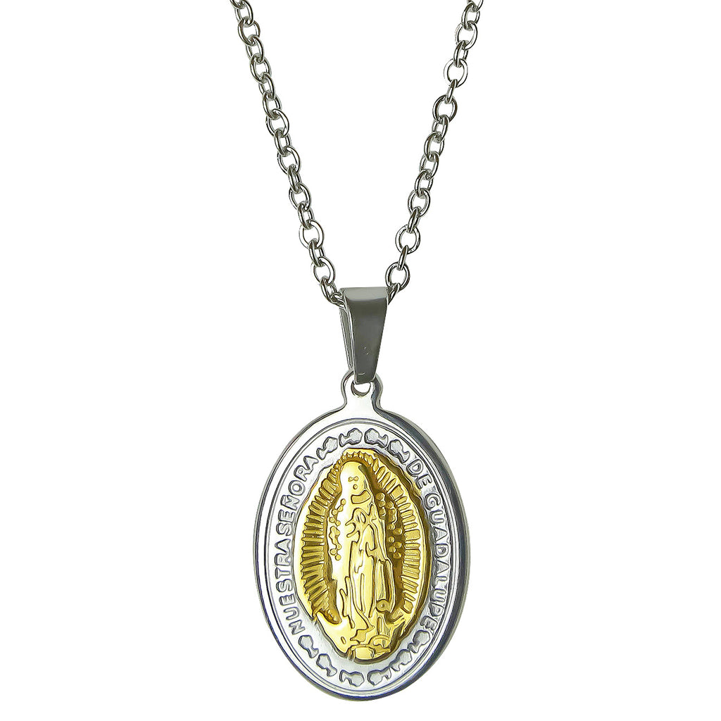 Virgin Mary Pendant - Gold / Silver