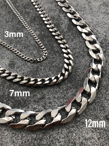 SILVER CHAIN NECKLACE - 12mm