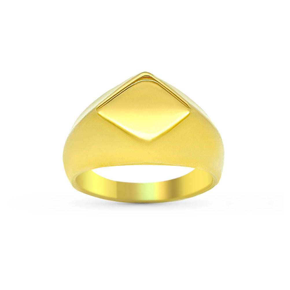 DIAMOND SIGNET - GOLD