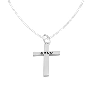 ARLO STERLING SILVER CROSS PENDANT
