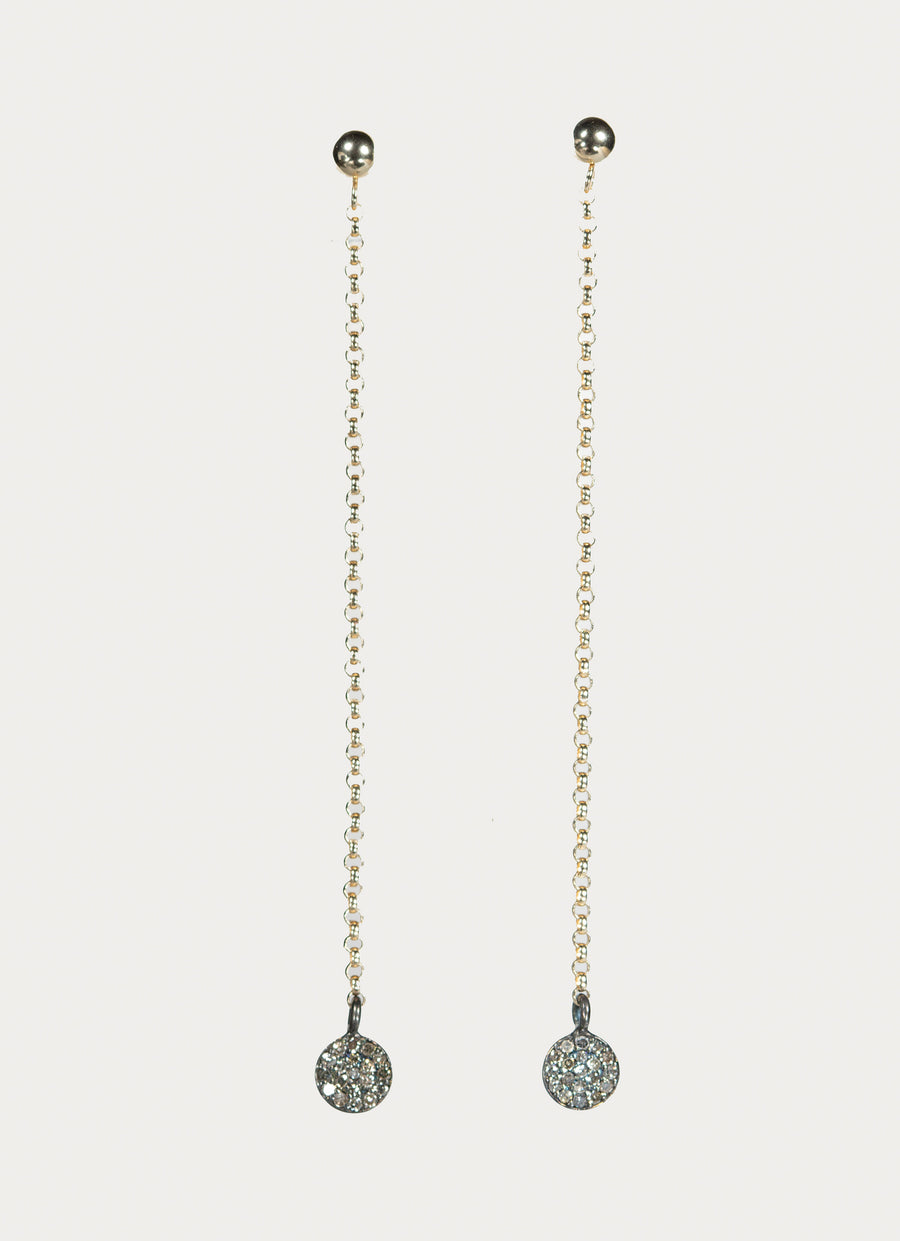 Pavé Diamond Gold Earrings