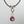Maroon Tourmaline and Pavé Diamond Necklace