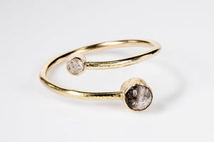 Champagne Diamond Open Wrap Ring
