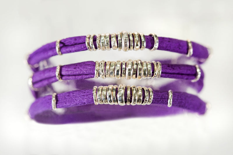 Bright Purple Leather Wrap
