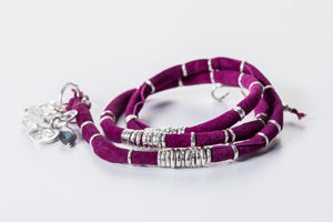 Magenta Leather Wrap