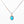 Turquoise with Gold and Sterling Silver Necklace