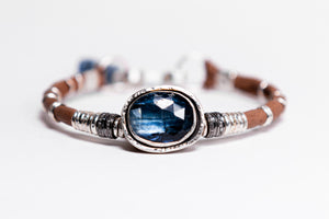 Kyanite & Pavé Diamond Bracelet
