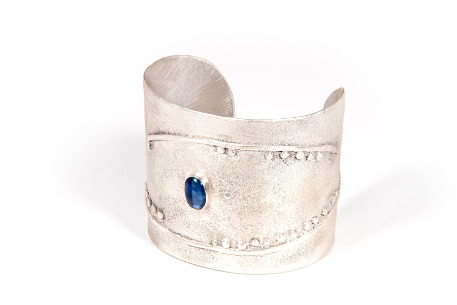 Blue Kyanite Evil Eye Lunarscape Cuff