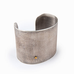 Athena Fused Sterling Silver Cuff with 24K Gold Accent