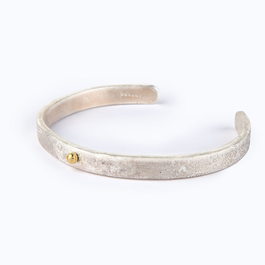 Mini Athena Fused Sterling Silver Cuff with 24K Gold Accent