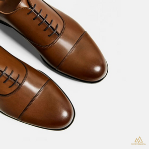 Captoe Oxfords in Cognac