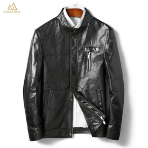 The Meteorite leather jacket in Black