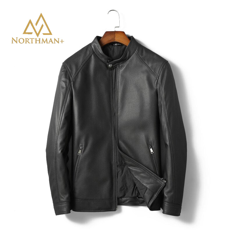 Pebble grain leather jacket V2