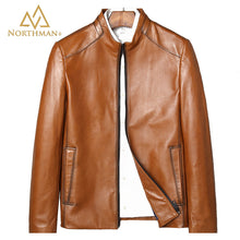 Tan leather jacket for men
