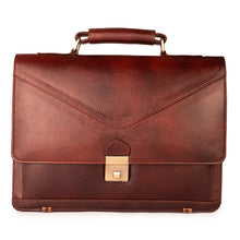The Classic Briefcase in Burgundy