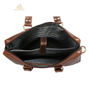 Zipped Pocket Messenger bag Dark Brown