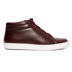 Burgundy Mid Top Sneakers
