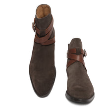 Brown Suede Jodhpur boots with Tan Straps : The Jodhpur boots