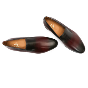 Burgundy Patina Slipons