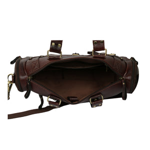 Leather Duffle Bag : Weekender In Chocolate Brown