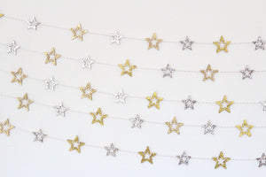Ramadan eid birthday party star garland glitter wood