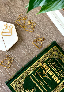 Masjid Paperclip bookmark craft kids