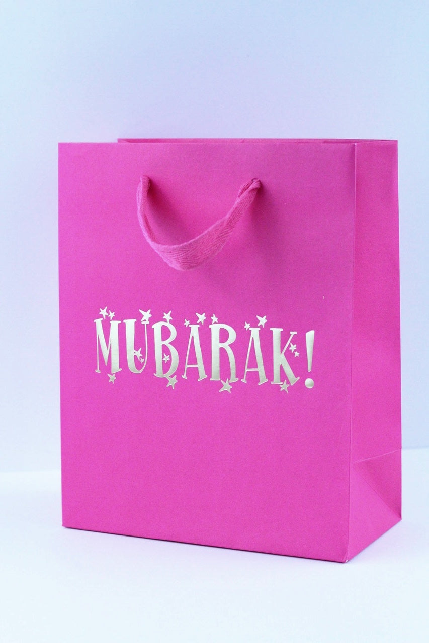 Small Fushia Gift Bag