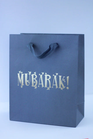 Small Gray Gift Bag