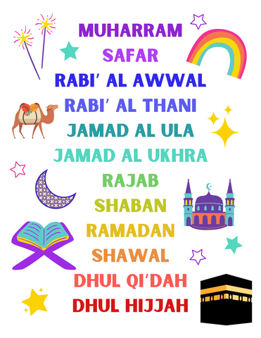 Months of Islam FREE PRINTABLE
