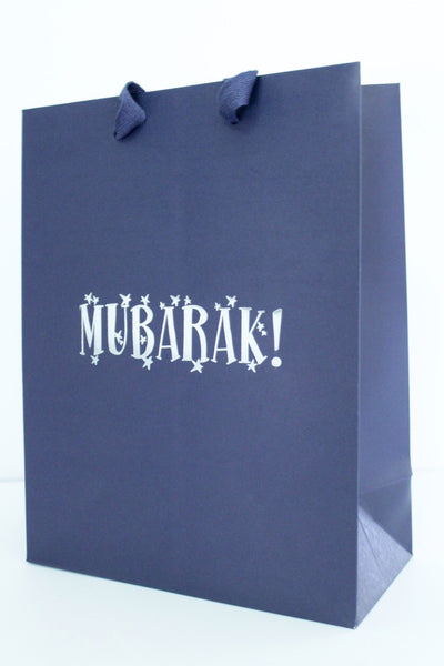 Large Navy Gift Bag