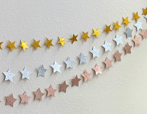 Glitter Star Garland Bundle