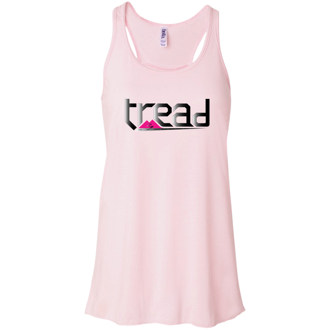 TREAD DESIGN | The Logo Pink | Flowy Racerback Tank