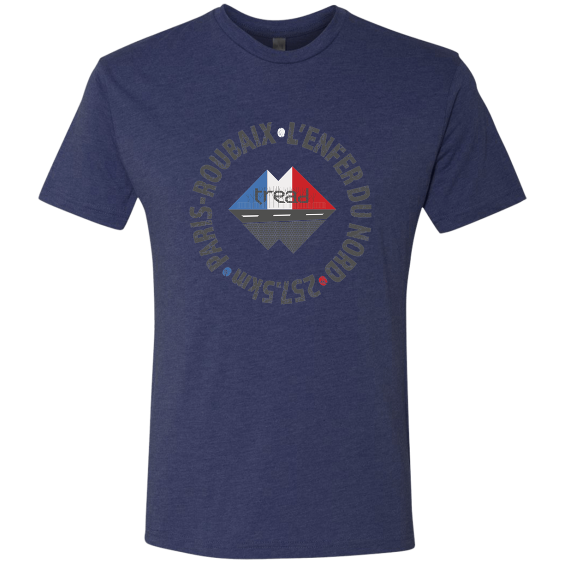 TREAD DESIGN | Paris Roubaix V1 Triblend T-Shirt