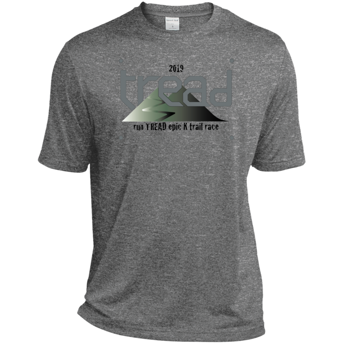 TREAD DESIGN | BIB Number Dri-Fit Moisture-Wicking T-Shirt