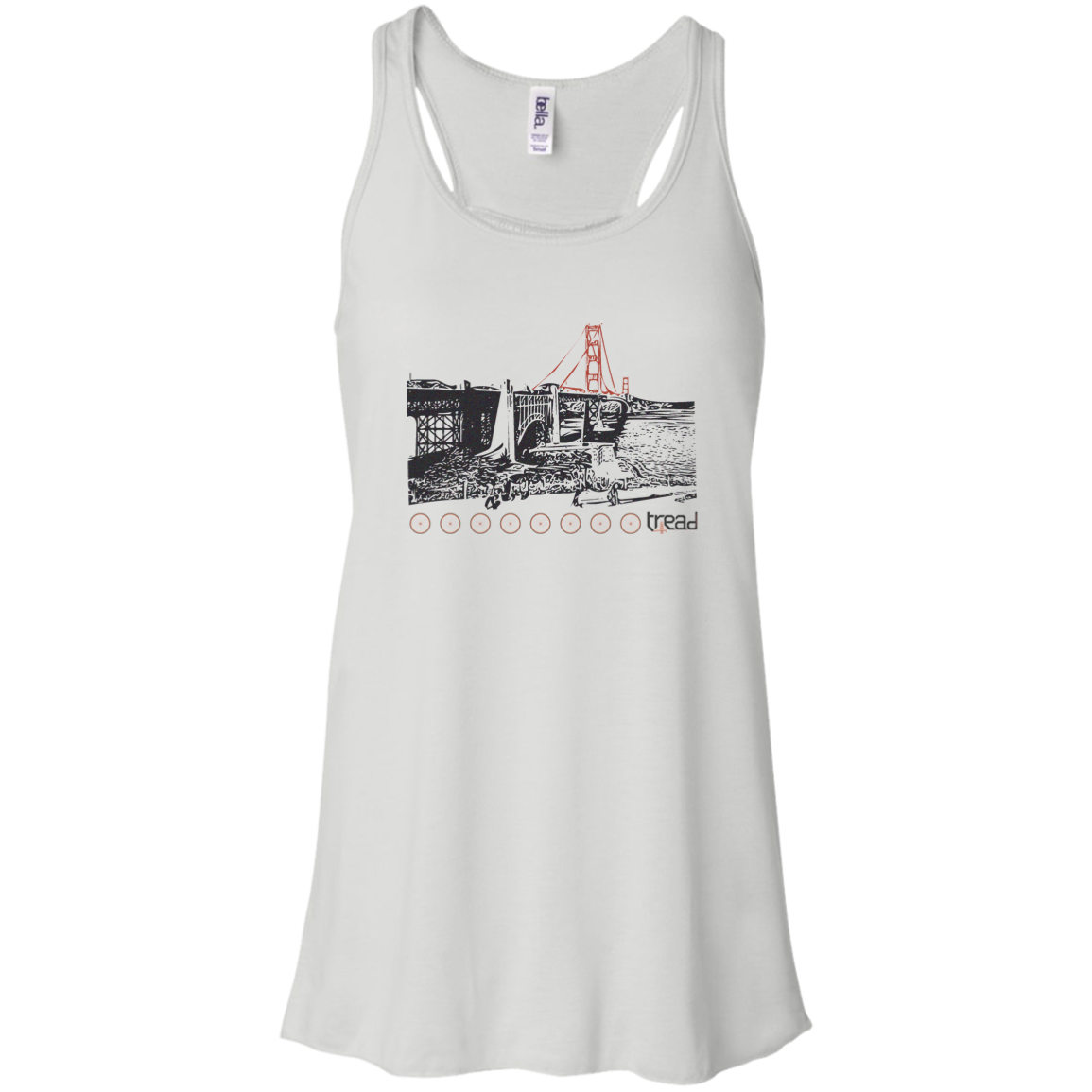 TREAD DESIGN | GGB Ladies Flowy Racerback Tank