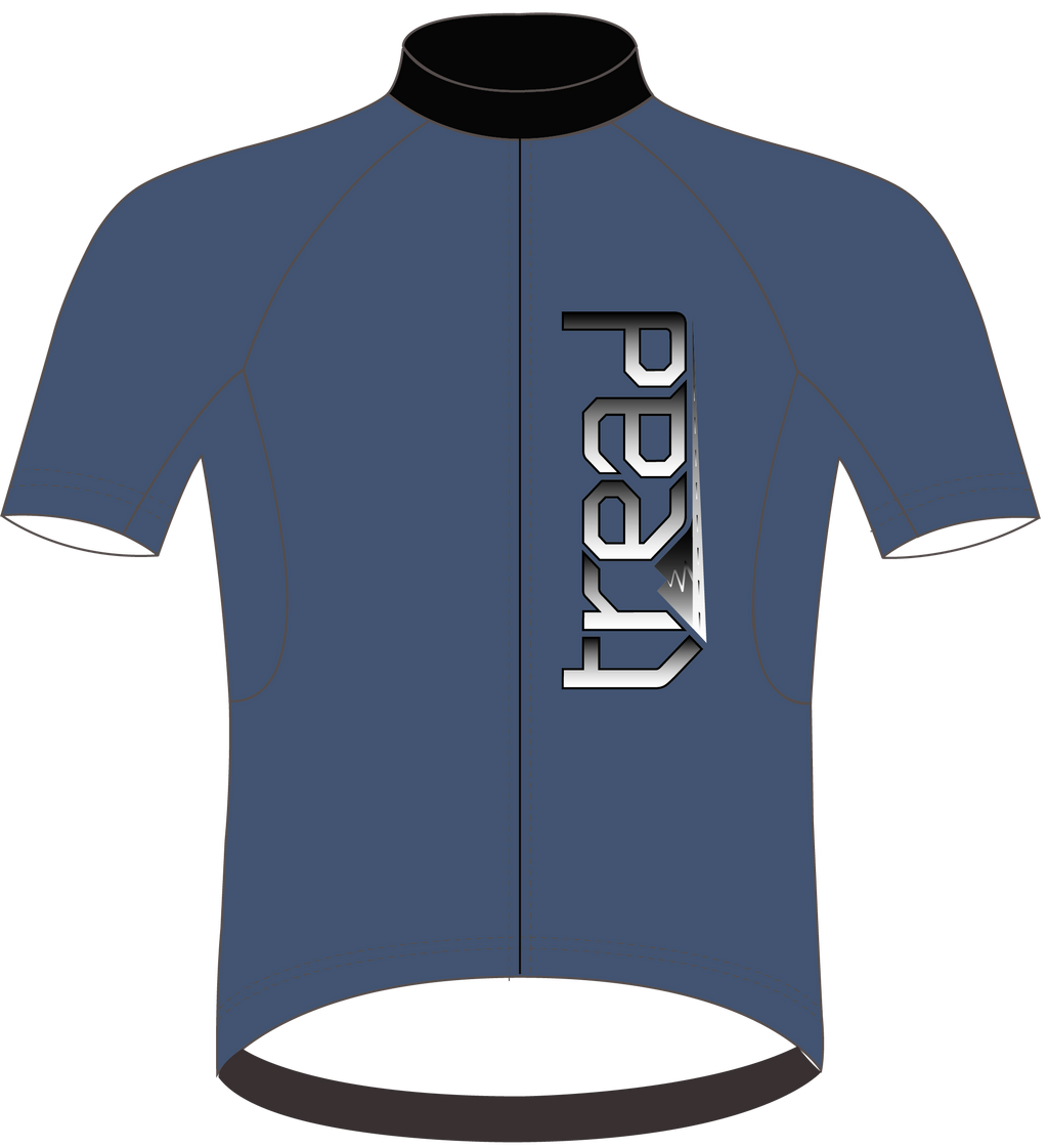 TREAD DESIGN | est. in CALIFORNIA Cycling Jersey Blue
