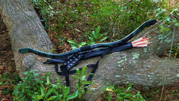 Dark Forest Hunter recurve archer archery bracer broadheads arrows target quiver bow hunt hunting camouflage
