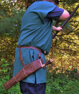 Viking Leather Quiver and 6 Hunting Arrows – CastleWallCreations