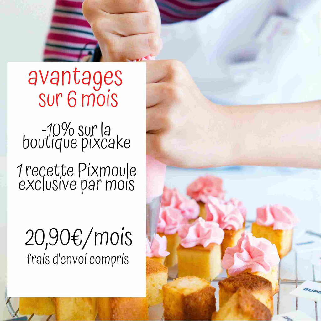 PIXKIT Abonnement 6 mois - 20,90€ - Pixcake the original...Le 1er Puzzle gourmand