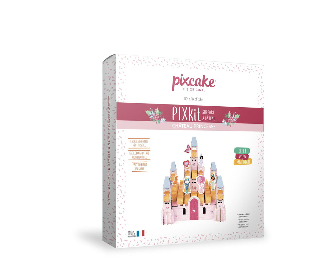 3D Princess Castle - Reusable Table Centre, easy to assemble, for cakes but also to play! Pixcake