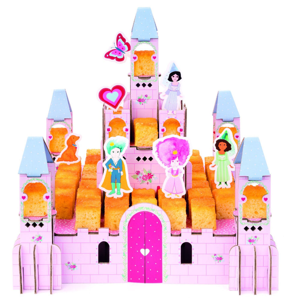 3D Princess Castle - Reusable Table Centerpiece, easy to assemble, for cakes but also for playing! Pixcake Castle Princess
