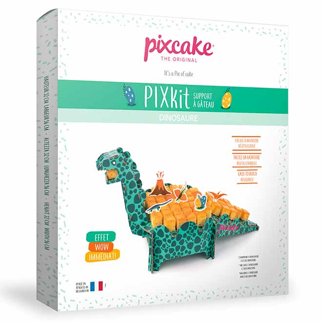 3D Dinosaure - Centre de Table réutilisable - Pixcake the original...Le 1er Puzzle gourmand