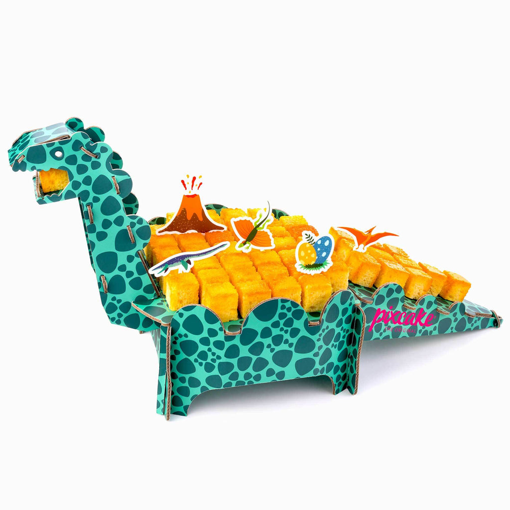 3D Dinosaur - Reusable Table Centerpiece, easy to assemble, for cakes but also for playing! Dinosaur Pixcake