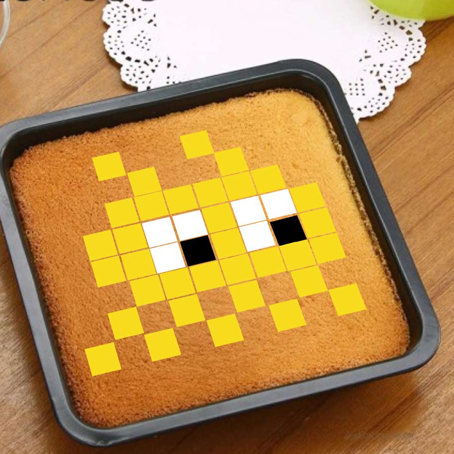 Space invader 2 - Pixcake the original...Le 1er Puzzle gourmand