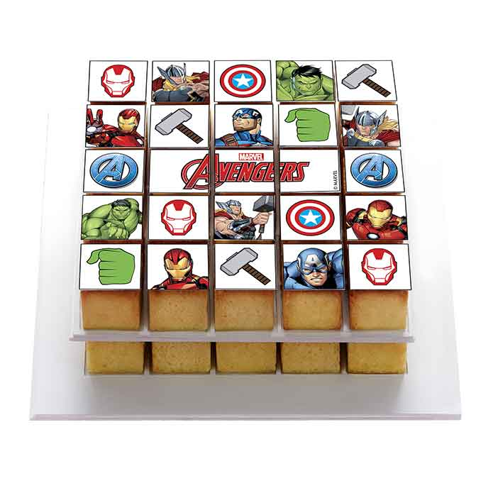Avengers - Décor à gâteau gourmand - Pixcake the original...Le 1er Puzzle gourmand