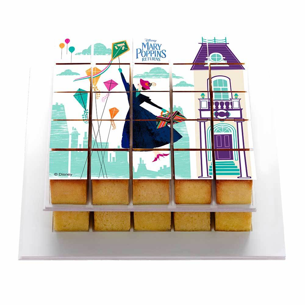 Box Mary Poppins - Reusable kit for a quick and easy personalized cake! Pixcake