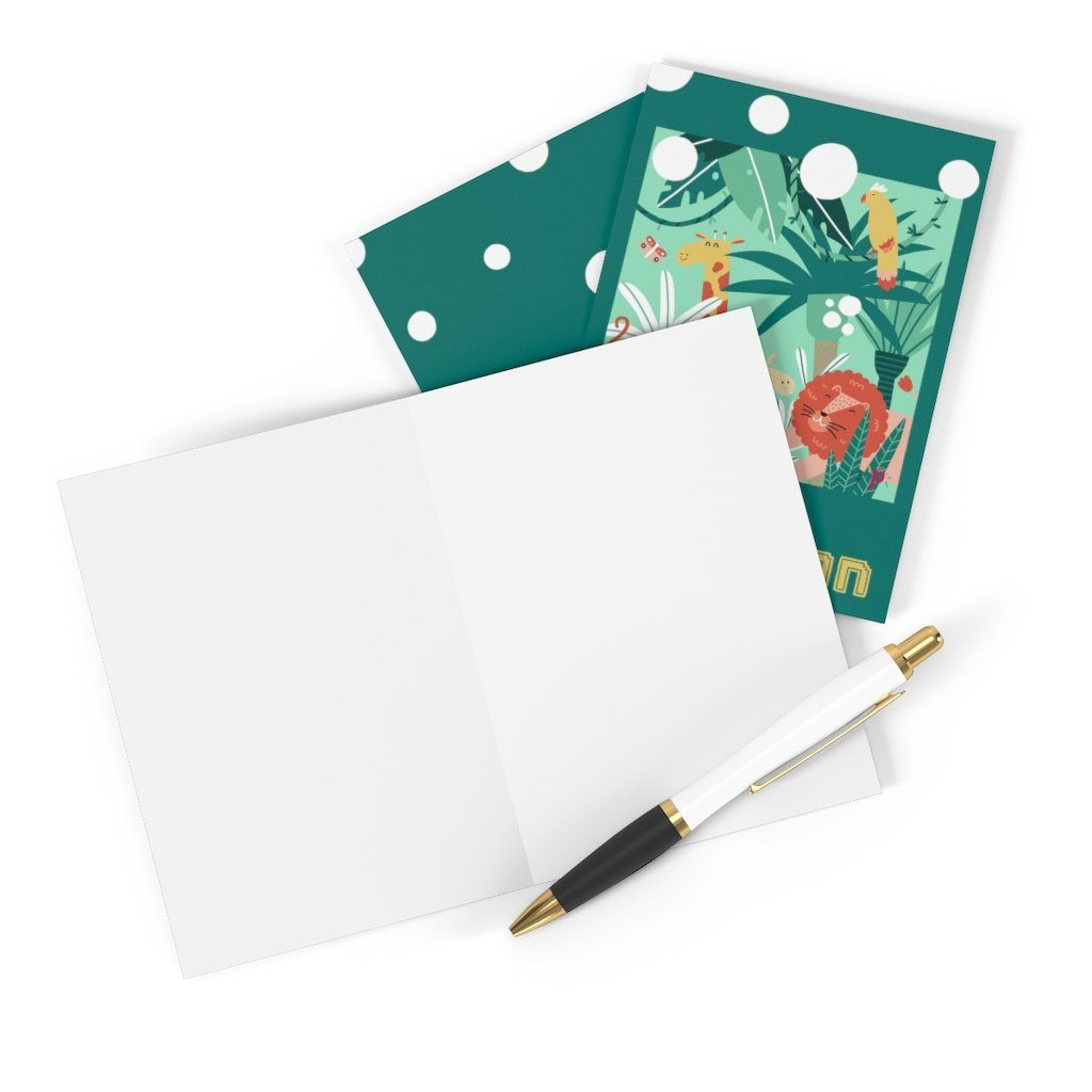 Cartes d'invitation Jungle (8 cartes + enveloppes) - Pixcake the original...Le 1er Puzzle gourmand