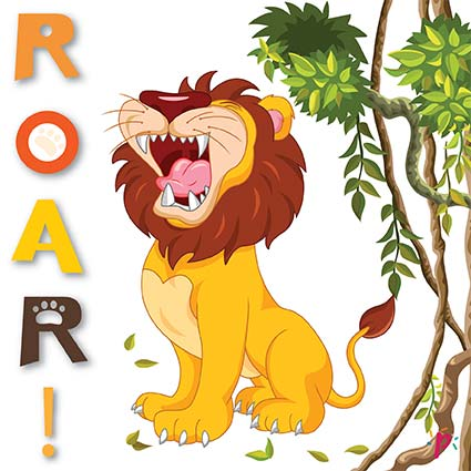 Pixdéco Lion Roar - Décor à gâteau gourmand! - Pixcake the original...Le 1er Puzzle gourmand