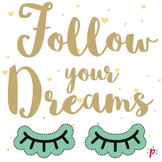 Follow your dreams - Décor à gâteau gourmand - Pixcake the original...Le 1er Puzzle gourmand